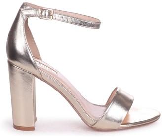 Linzi Nelly Gold Metallic Single Sole Block Heels