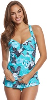 Seafolly Tropical Vacay Halter Tankini Top (DDCup) - 8158962