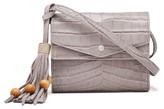 Elizabeth and James Eloise Croc Embossed Leather Field Bag - Grey