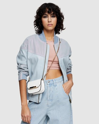 Topshop Faux Leather Bomber Jacket