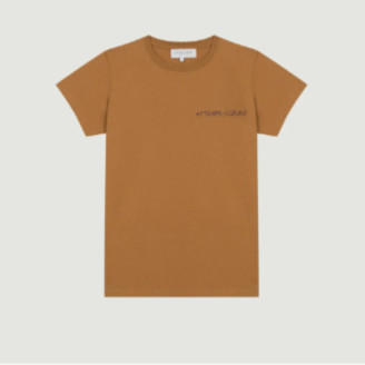 Maison Labiche Brown Sugar Embroidered Boyfriend T Shirt - xs