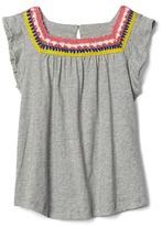 Crochet-lace keyhole top