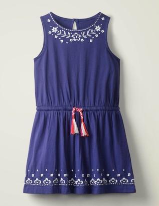 Boden Embroidered Tie-waist Dress