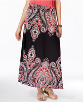 INC International Concepts Petite Paisley-Print Maxi Skirt, Created for Macy's