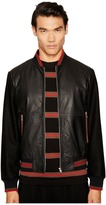 McQ by Alexander McQueen Soft Leather Blouson Jacket Men's Coat