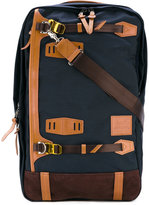 MASTERPIECE Master Piece - contrast detail backpack - men - Nylon/Leather - One Size