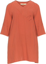 Isolde Roth Plus Size Cotton pleated tunic