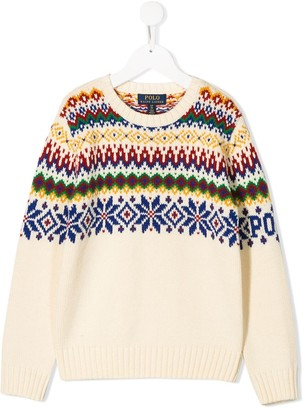 Ralph Lauren Kids intarsia-knit jumper