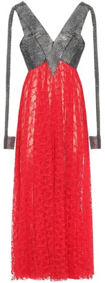 Christopher Kane Crystal and lace gown