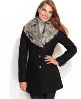Esprit Coat, Faux-Fur-Collar Wool-Blend