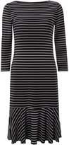 Lauren Ralph Lauren 34 sleeved striped boatneck dress
