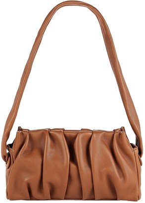 Elleme Vague Pleated Leather Shoulder Bag