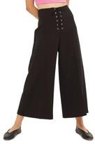 Topshop Women's Lace-Up Wide Leg Crop Pants