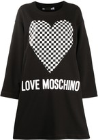 Love Moschino heart-print sweatshirt dress