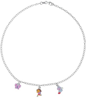 Dora the Explorer 3170967 Children's Necklace with Explorer/Monkey/Butterfly Design: 925/1.000 Silver 4.3 g 40 cm