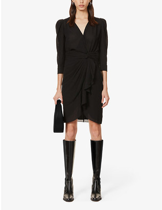 BA&SH Isee asymmetric stretch-crepe mini dress
