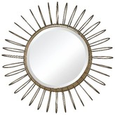 Lazy Susan 18.5 in. Gold Mirror with Wire Frame