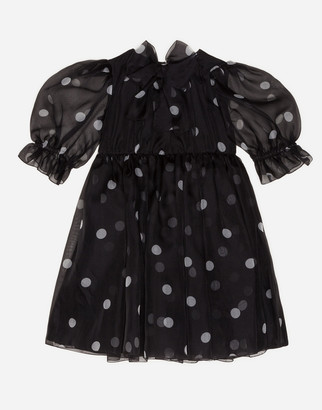 Dolce & Gabbana Polka-Dot Print Organza Dress