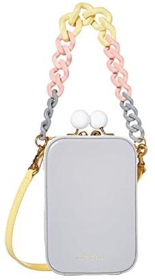 Marc Jacobs The Vanity MJ Color-Blocked (Grey Multi) Handbags