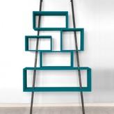Laurette 'La folie' shelving unit - canary blue