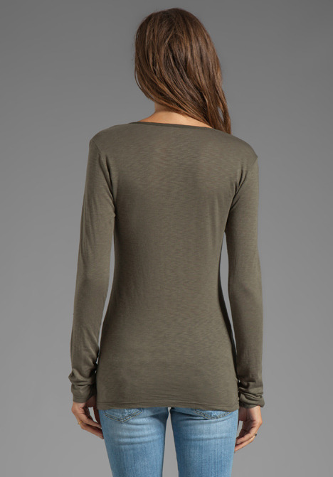 Velvet by Graham & Spencer Gudrun Lux Slub Henly long Sleeve