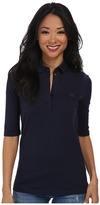 Lacoste Half Sleeve Slim Fit Stretch Pique Polo Shirt Women's Short Sleeve Knit