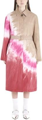 MSGM Tie Dye Print Trench Coat