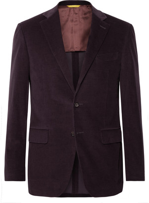 Canali Kei Slim-Fit Unstructured Cotton-Blend Corduroy Suit Jacket