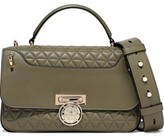 Balmain Renaissance Smooth And Quilted Leather Shoulder Bag