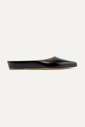 Gabriela Hearst Martin Leather Slippers - Black
