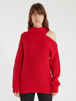 Astr The Label Sepulveda Cold Shoulder Turtleneck Sweater