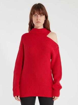 ASTR the Label Sepulveda Cold Shoulder Turtleneck Sweater