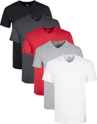 Lower East Mit V-ausschnitt T-Shirt Multicolour Multicolor) XX-Large Pack of 5