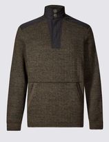 Marks and Spencer Textured Long Sleeve Fleece Top