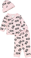 Baby Steps Pink 'XO' Wrap Top Set
