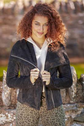 Blank NYC Solid Suede Jacket Black XS