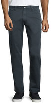 Armani Collezioni Five-Pocket Stretch-Cotton Pants, Charcoal