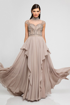 Terani Couture 1721M4320 High Neckline Embellished Evening Gown