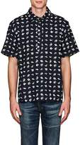 3x1 MEN'S FISH-PRINT COTTON SHIRT