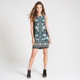 Apricot Paisley Print Shift Dress