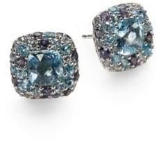 John Hardy Batu Aquamarine & Sterling Silver Stud Earrings