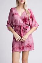 Honeybelle honey belle Tie-Dye Wrap Dress