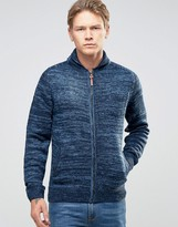 Bellfield Zip Through Shawl Collar Cardigan