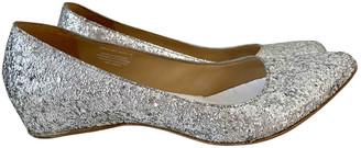 Maison Martin Margiela Pour H&m Silver Glitter Flats