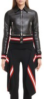 Givenchy Lambskin Leather Jacket with Zip Off Hem