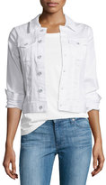 AG Adriano Goldschmied Robyn Button-Front Denim Jacket, True White