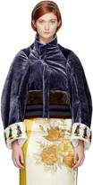 Undercover Navy Velvet Queen Jacket
