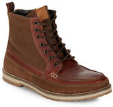 Kenneth Cole Reaction Soak It In Leather and Suede Lace-Up Mid-Boots