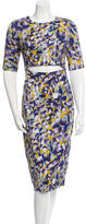 Suno Floral Print Cutout Dress