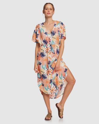 Roxy Womens Flamingo Shades Printed Midi Dress